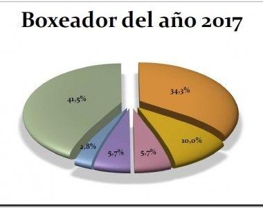 Los mejores del boxeo español 2017 – Porcentajes de votos
