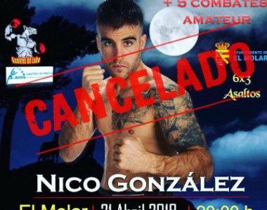 El combate de Nicolás González cancelado