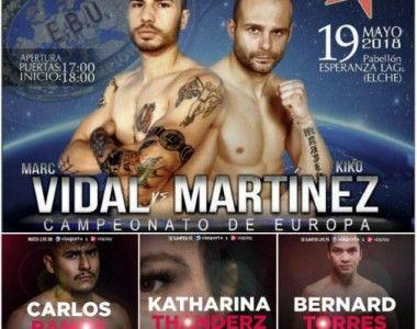 Kiko Martinéz Vs Marc Vidal, una batalla rodeada de buenos teloneros