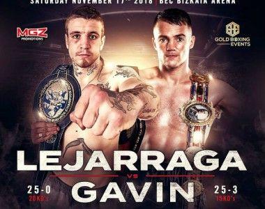 Kerman Lejarraga defenderá su título de Europa contra Frankie Gavin el 17 de noviembre