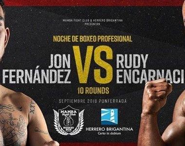 Jon Fernandez vs Ruddy Encarnación, el 29 de septiembre en Ponferrada