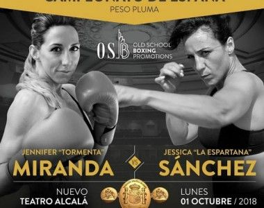 Jennifer Miranda Vs Jessica Sánchez por el título de España pluma en Octubre