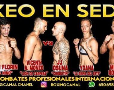 El boxeo regresa a Sedaví el 21 Septiembre