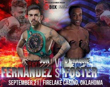 Jon fernández Vs O'Shaquie Foster el 21 de septiembre en Oklahoma