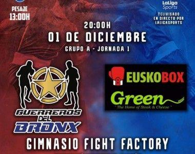 Guerreros del Bronx Vs Euskobox Green, primera jornada de Liga