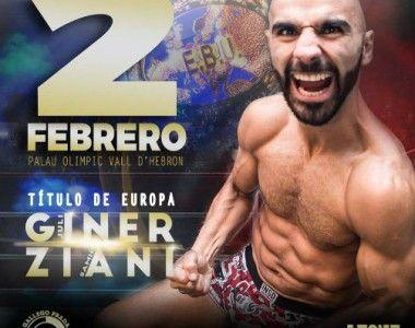 Nueva Fecha, el 2 de febrero Juli Giner disputará el título de Europa