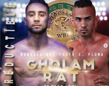 """Moussa Gholam Vs Alex Rat por el Mundial WBC Jóven en la cartelera de """"Irreductibles"""""""