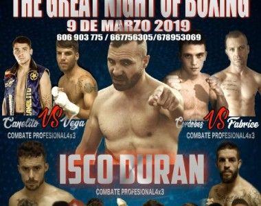 """Llega """"La Gran Noche del Boxeo"""" con Isco Durán, Alex Vega y Manuel Pérez"""