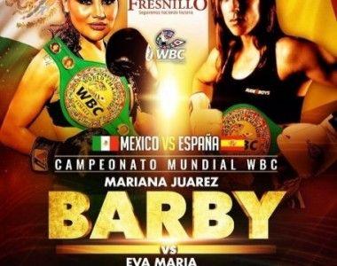Eva María Naranjo Vs Mariana`Barbie´ Juárez  el 2 marzo por el Título del Mundo WBC