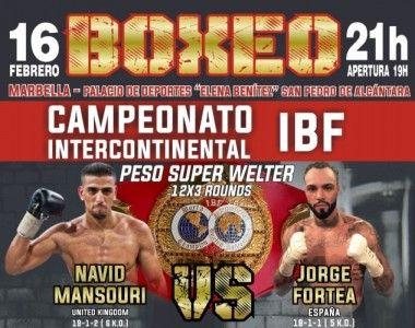 Esta noche Jorge Fortea Vs Navid Mansouri por el Título Internacional IBF