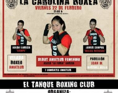 """El Boxeo femenino protagonista en La Carolina…debut de  Ascen """"La Furia"""" García"""