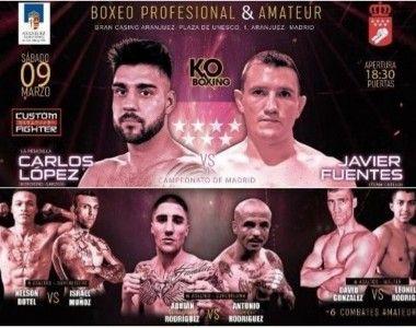 Este fin de semana cinco combates profesionales en el Gran Casino de Aranjuez