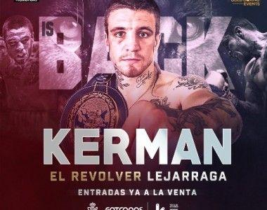Kerman Lejarraga vuelve el 8 de junio en el Bilbao Arena