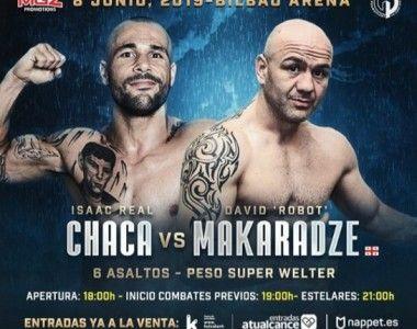 "David ""Robot"" Makaradze será el rival de Isaac Real ""Chaca"" en el Bilbao Arena"