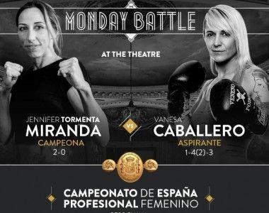 Jennifer Miranda defiende su título de España en`The Monday Battle at the Theatre´