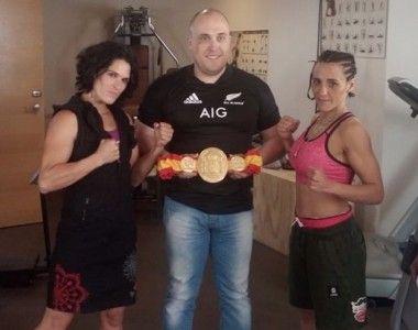 Mary romero y Jéssica Sánchez en el peso, primer Título de  Boxeo Profesional  en Murcia