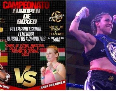 Este sábado título de Europa en Paterna: Katy Díaz ante Judit Hachbold