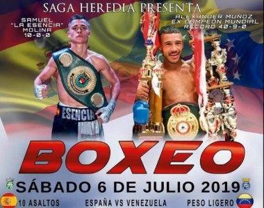 Samuel Molina se mide al excampeón mundial Alexander Muñoz