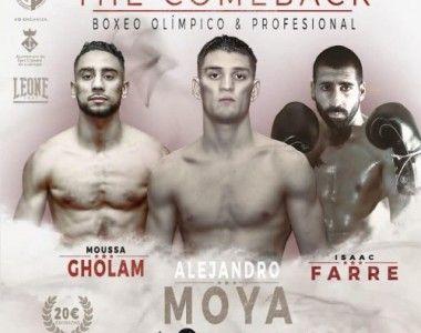 Alejandro Moya, Moussa Gholam e Isaac Farré vuelven el 14 de septiembre
