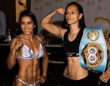 Joana Pastrana y Yokasta Valle  cumplen con el peso… hoy se miden en el Arena Marbella