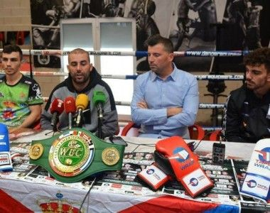 Presentación oficial del combate  Jon Fernández  Vs Arévalo, Campeonato Latino del Consejo WBC