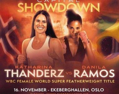 Katharina Thanderz lucha este fin de semana por su primer Título Mundial (WBC)