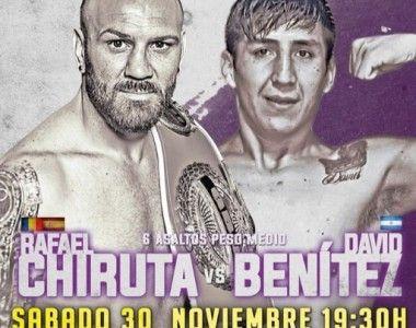 David Benítez será el próximo rival Rafael Chiruta en Torrejón de Ardoz