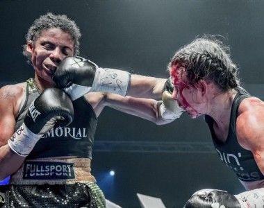 Katharina Thanderz se proclama Campeona Mundial Interina superpluma WBC en una  autentica batalla