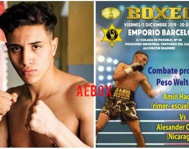 Rimer Box cierra el año con dos combates profesionales en el Club Deportivo EMPORIO