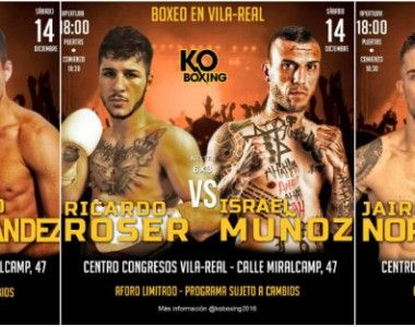 Jairo Noriega,  Alin Florin y Ricardo Roser este sábado en Villarreal